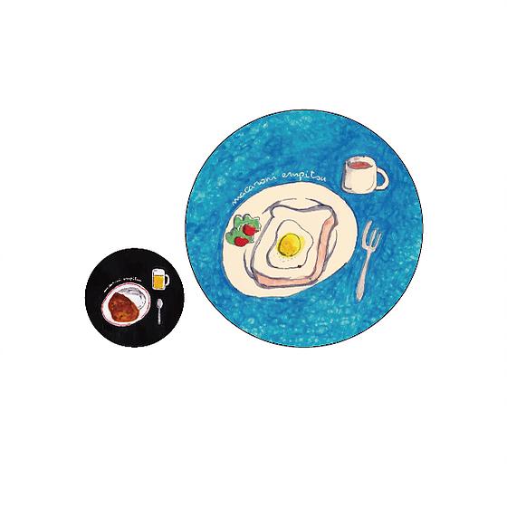 朝食&夕食 ちびデカ缶バッチ